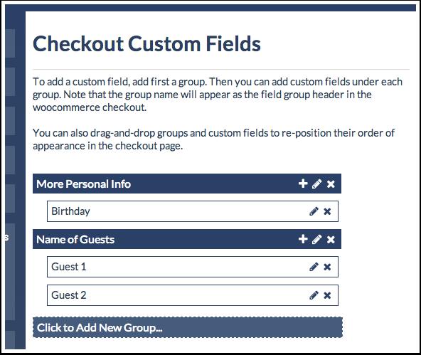 6 - checkout fields