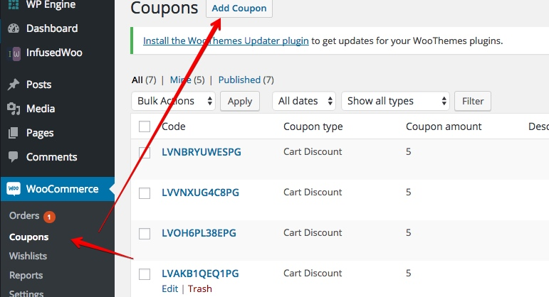 generating and sending a personalized coupon code on every